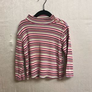 Hanna Andersson Colorful Striped Girls Shirt-3T